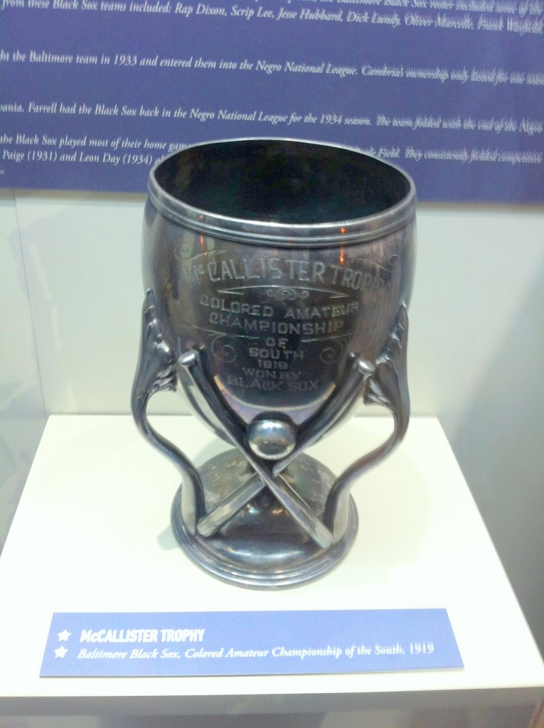 McCallister Trophy 1919 Black Sox NSLM 12 2015
