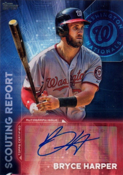 bryce harper autographed topps 2016