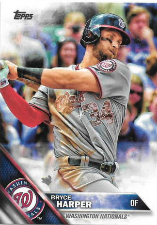 Bryce Harper Graces The Box Top Of 2016 Topps Baseball