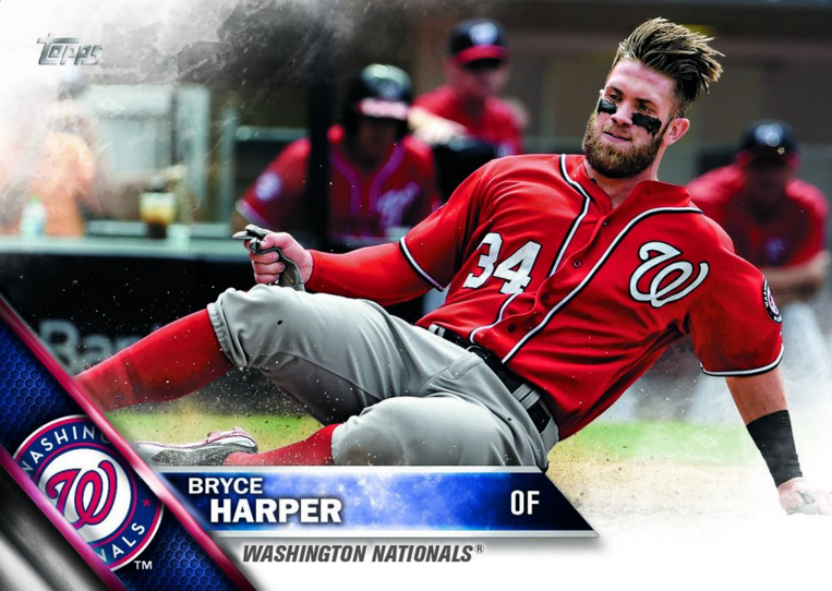 Bryce Harper Graces The Box Top Of 2016 Topps Baseball Series 1