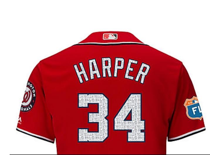 harper spring training jersey