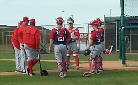 Gerry catcher practice