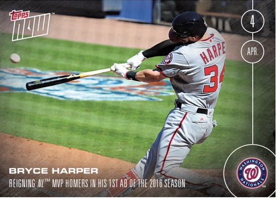 bryce harper Topps Now Opening Day card