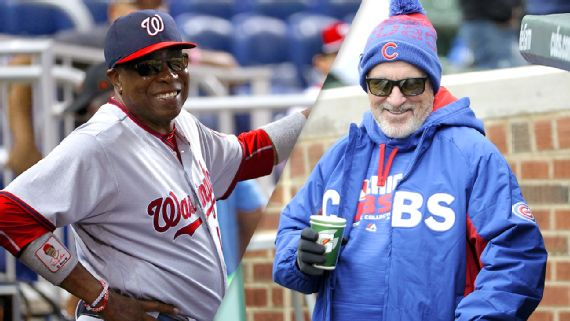 Dusty Baker and Joe Maddon, who guide two of the best teams in the NL, have the respect of their players. Getty Images