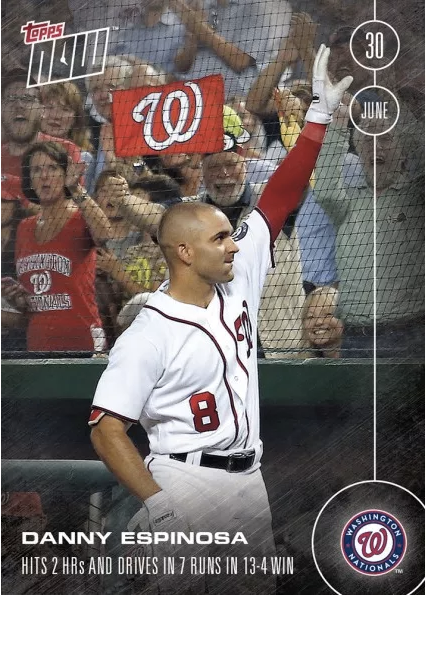danny espinosa Topps Now card
