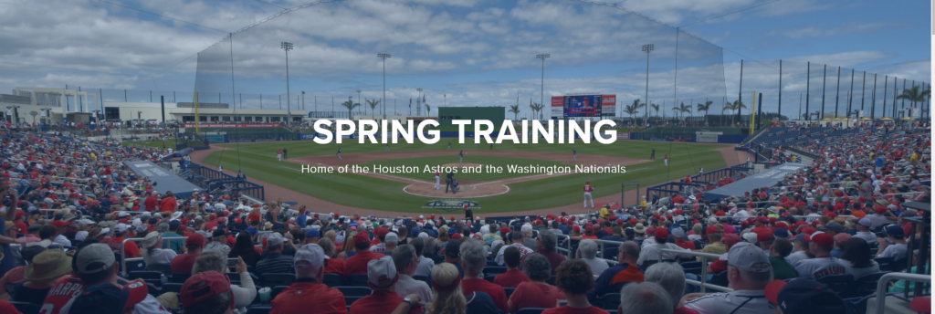 Nats Spring Training schedule with all home/road TV/Radio