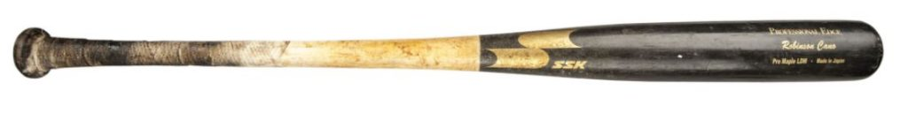 Robinson Cano game used bat SSK